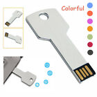 Metal Key Shaped USB 2.0 4GB 8GB Flash Drives Thumb Pen Drive Memory Stick LOT