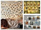 36 Led Photo Clip Peg String Lights Battery Operated Home Party Decor