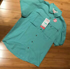 Mens Coleman Adventure Stretch Shirt Zip Outdoor Fishing Short Sleeve L XL 2XL
