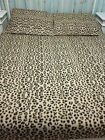 Full Queen Leopard Animal Print Fleece Bed Cover Coverlet 2 Shams Zebra Cheetah image