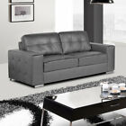 GENOA Italian Inspired Leather Sofas Chesterfield Side 3 + 2 Seaters + Armchairs