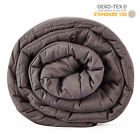 "Breathable 100%Cotton Weighted Blanket for Adults 60""x 80"" 20lbs Queen King Bed image"