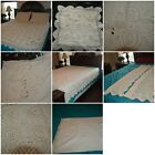 VTG Hand crocheted bed cover, shams, valances you choose image