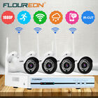Floureon Wireless 4CH CCTV Security NVR 1080P IP Camera System Kit IR-CUT W/1TB