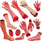 Внешний вид - Walking Dead Skeleton Halloween Bloody Hands Zombie Skinned Arm Prop Body Parts