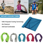 Sports Instant Cooling Towel Ice Cold Enduring Running Jogging Gym Chilly Pad US image