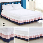 Ruffle Wrap Bed Skirt with Elastic Three-layer Cake Bedding Dress Color Cute New