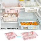 US Fridge Organizer Drawer Basket Larder Rack Adjustable Stretchable Storage gi