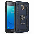 For Samsung Galaxy J2 Shine/Pure/Dash Case, Magnetic Metal Ring +Tempered Glass
