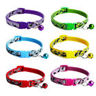 US STOCK 1 Pcs Hot Pet Collars Polyester Camouflage with Bell For Small Dogs