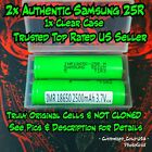 Authentic Samsung 25R 18650 Cells - Flat Top - Top Rated US Seller Free Ship