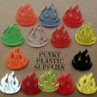 3x Flame Fire Laser Cut Acrylic Charms/pendants/ Cabochons/ Jewellery Making