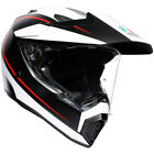 AGV AX9 Pacific Road Motorcycle Helmet - Matte Black / White / Red - CHOOSE SIZE