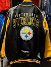 Officially Licensed NFL Men's Pittsburgh Steelers Faux Leather Varsity Jacket on eBay