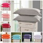 1Pc Solid Cotton Bed Pillowcases Bedding Pillow Case Cover Standard Queen Size image