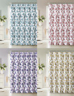 Shabby Watercolor Floral 100% Cotton Fabric Shower Curtain - Assorted Colors
