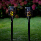 2-4 True Flame Outdoor Solar Torch Garden Stake Lights Flickering LED Lights4fun