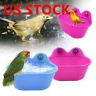 US Pet Birds Cage Bath Basin Oval Shape For Pet Small Bird Parrot Pet Bathtub h8