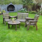 Barrowden Outdoor Wooden Garden Companion 4 Seat / Patio Furniture / Bench 121a