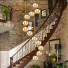 Glass Ball Pendant Light Iron Ceiling Lamp Chandeliers Fixtures Light Home Decor $915.47 USD on eBay