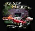 Run Your Horses Mustang Barn Scene T-Shirt - Free USA Shipping! Take a Look!