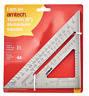 More images of Aluminium Roofing Speed Square Level Ruler 6 150mm easy to read scale 0 / 180 uk