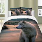 Wolf 3Pieces Duvet Cover Set King Queen Size Beddding Set Animal Wongs Bedding image