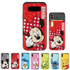 Disney Finger Heart Slide Card Dual Bumper Case For Samsung Galaxy S10e S10 S10+
