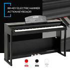 88 Key Music Electric Weighted Action Digital Piano Keyboard w/Pedal+Cover+Stand