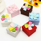 Floral Imitated Pearl Decor Jewelry Boxes Package Case for Necklace Earring HL