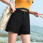 Vintage Summer Basic Women High Waist A-Line Denim Shorts Jeans Beach Hot Pants