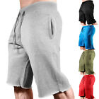h8 Men Casual Cotton Solid Training Sport Gym Fitness Jogging Shorts Pants A4