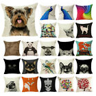 Animal Cotton Linen Throw Pillow Cover Case Decor Sofa Seat Car Cushion Cover image