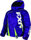 FXR Youth Purple Digi/Lime Boost Insulated Snowmobile Jacket Snocross