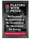 Rugby 6 Nations 73 England Sport Stars Poster Motivation Quote Picture Print