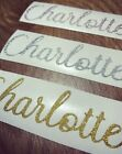 Personalised Name Vinyl Glitter Decal Sticker Wine Glass Water Bottle Hen Do Box