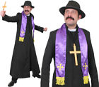 MENS EXORCIST COSTUME PRIEST BOOK TV FILM CHARACTER FANCY DRESS HALLOWEEN OUTFIT