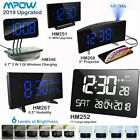 Mpow Projection Alarm Clock FM Radio 12/24 Hour SNOOZE Function Curved Screen