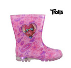 Toddler Trolls Light Up Wellington Boots Infant Pink LED Welly Waterproof Shoe image