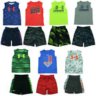 Under Armour Boys 2 Piece Sets T-Shirt Shorts - Size 4 5 6 7 - New w/ Tags