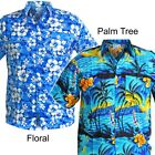 FLORAL/PALM TREE HAWAIIAN SHIRT Bright Stag Beach Aloha Party Summer Fancy S-3XL