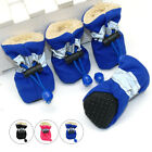 4pcs Waterproof Pet Dog Shoes Anti-slip Snow Boots Footwear Soft Fleece Socks
