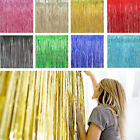 2pack Shiny Metallic Fringe Foil Tinsel Curtain Wedding Door Party Home Decor