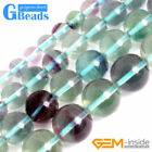 "Natural Colorful AAA Grade Fluorite Gemstone Round Beads Free Shipping 15"" GBead"