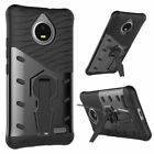 For Motorola Moto G5/G4/G6 Plus Shockproof PC TPU Rubber Rugged Stand Case Cover