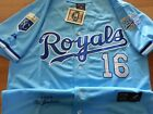 Kansas City Royals #16 Bo Jackson Throwback Jersey powder blue New Tag WS patch on Ebay