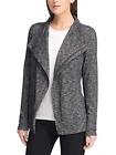 NEW G.H. Bass Ladies' Knit Zip Asymmetrical Cardigan