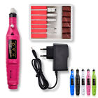 1Set Nail Power Drill Electric Manicure Machine Kit Tools Gel Polish Remover
