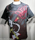 NEW Silver Dagger Mens Skull Helmet Crew T-Shirt XL Charcoal MSRP$120