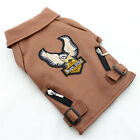 Eagle Dog Coat Soft PU Leather Jacket Waterproof Puppy Clothes For Small Pet Dog